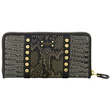 Buy Paul's Boutique Lizzie Animal Print Purse, Black/Grey Online at johnlewis.com