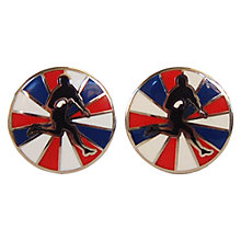 Buy TYLER & TYLER Signature Rugby Cufflink Set, Multi Online at johnlewis.com