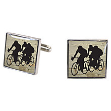 Buy TYLER & TYLER Racer Cufflink Set, White Brick Online at johnlewis.com
