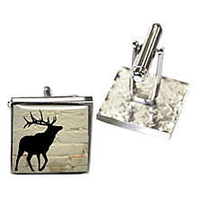 Buy TYLER & TYLER Stag Cufflink Set, White Brick Online at johnlewis.com