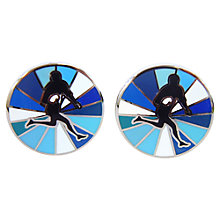 Buy Tyler & Tyler Signature Rugby Cufflinks Set, Multi Blue Online at johnlewis.com