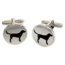 Buy TYLER & TYLER Labrador Round Cufflink Set, White Brick Online at johnlewis.com