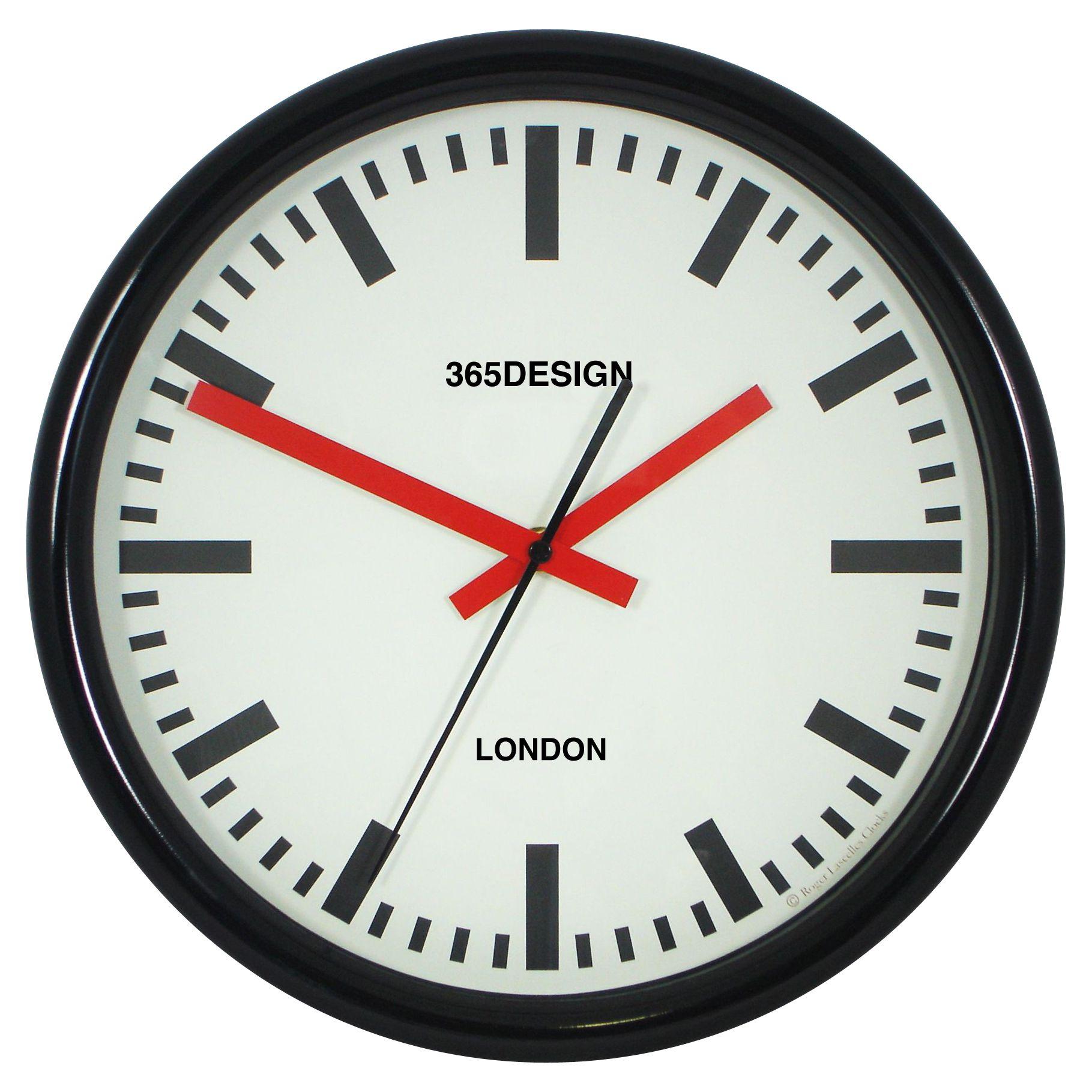 Lascelles Lascelles Personalised Station Clock, 30cm, Black