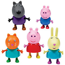 Buy Peppa Pig Holiday 5 Figure Pack Online at johnlewis.com
