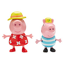 Buy Peppa Pig Holiday Figures, Pack of 2, Assorted Online at johnlewis.com