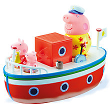Buy Peppa Pig Grandpa's Holiday Boat Online at johnlewis.com