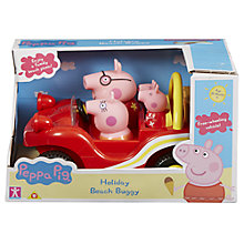 Buy Peppa Pig Holiday Time Beach Buggy Online at johnlewis.com