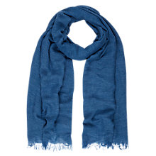 Buy Hobbs Heather Scarf, Cornflower Online at johnlewis.com