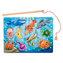 Buy Melissa & Doug Magnetic Wooden Fishing Game Online at johnlewis.com