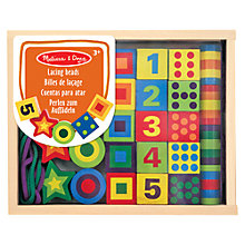 Buy Melissa & Doug Lacing Beads In A Box Online at johnlewis.com