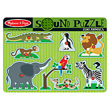 Buy Melissa & Doug Zoo Animals Sound Puzzle Online at johnlewis.com
