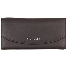 Buy Fiorelli Maria Leather Large Dropdown Purse, Black Online at johnlewis.com