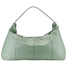 Buy Kin by John Lewis Rebeccy Large Leather Shoulder Bag, Sage Green Online at johnlewis.com