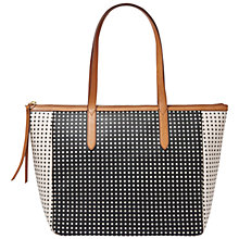 Buy Fossil Sydney Leather Shopper Bag, Polka Dot Online at johnlewis.com
