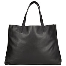 Buy Collection WEEKEND by John Lewis Morgan Raw Edge Tote Bag, Black Online at johnlewis.com