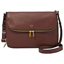 Buy Fossil Preston Flap Bag, Espresso Online at johnlewis.com