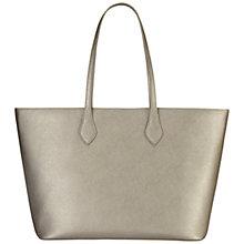 Buy Jaeger Jones Leather Tote Bag, Silver Online at johnlewis.com