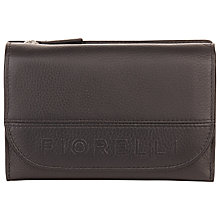 Buy Fiorelli Zoe Leather Flapover Purse, Black Online at johnlewis.com