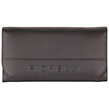 Buy Fiorelli Sophie Leather Large Flapover Purse, Black Online at johnlewis.com