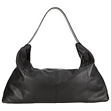 Buy Kin by John Lewis Rebeccy Large Leather Slouch Bag, Black Online at johnlewis.com