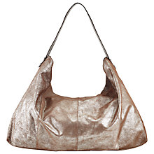 Buy Kin by John Lewis Rebeccy Large Leather Slouch Bag, Silver Online at johnlewis.com