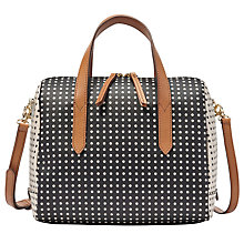 Buy Fossil Sydney Satchel Bag, Polka Dot Online at johnlewis.com