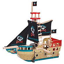 Buy Le Toy Van 'Jolly' Pirate Ship Online at johnlewis.com