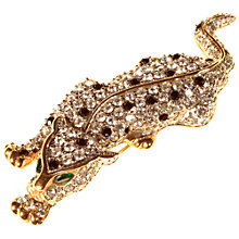 Buy Alice Joseph Vintage Moritz Diamante Leopard Brooch, White/Black Online at johnlewis.com