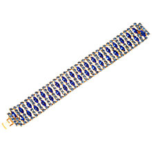 Buy Alice Joseph Vintage 1950s Diamante Bracelet, Blue Online at johnlewis.com