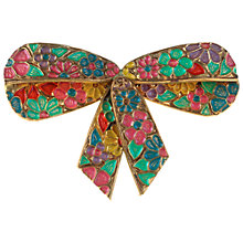 Buy Alice Joseph Vintage Edwardian Enamel Bow Brooch, Green/Blue Online at johnlewis.com