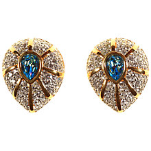 Buy Alice Joseph Vintage Gold Plated Swarovski Earrings, Aqua/White Online at johnlewis.com