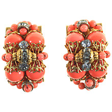 Buy Alice Joseph Vintage 1930s Clip-on Earrings, Coral Online at johnlewis.com