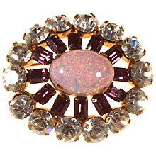 Buy Alice Joseph Vintage Opaline and Diamante Brooch, White Online at johnlewis.com