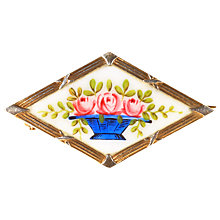 Buy Alice Joseph Vintage Enamel and Silver Brooch, White/Blue Online at johnlewis.com
