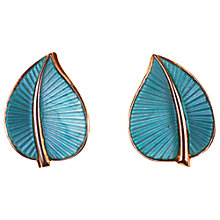 Buy Alice Joseph Vintage Sterling Silver Leaf Clip-On Earrings, Blue/Silver Online at johnlewis.com