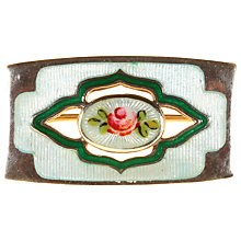 Buy Alice Joseph Vintage Charles Horner Enamel and Silver Brooch, Blue/Silver Online at johnlewis.com