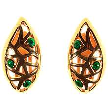 Buy Alice Joseph Vintage 1960s Christian Dior Earrings, Gold/Green Online at johnlewis.com