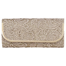 Buy Oasis Lace Bar Clutch Handbag, Light Neutral Online at johnlewis.com