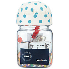 Buy John Lewis Daisy Chain Sewing Jar, Teal Online at johnlewis.com