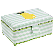Buy John Lewis Pear Rectangular Sewing Basket, Multi Online at johnlewis.com