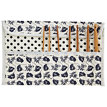 Buy John Lewis Monochrome Poppy Crochet Roll, Black/Cream Online at johnlewis.com