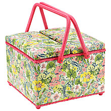 Buy John Lewis Nasturtium Carriages Twin Lid Sewbasket, Multi Online at johnlewis.com
