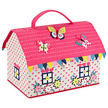 Buy John Lewis Butterfly House Sewing Box, Pink/Multi Online at johnlewis.com