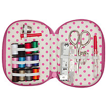 Buy John Lewis Butterfly Zipped Sewing Kit, Blue Online at johnlewis.com
