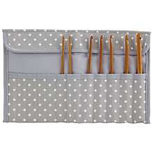 Buy John Lewis Spot Crochet Roll, Grey Online at johnlewis.com