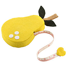 Buy John Lewis Pear Tape Measure, Yellow Online at johnlewis.com
