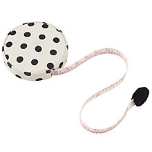 Buy John Lewis Monochrome Poppy Tape Measure, Black/Cream Online at johnlewis.com