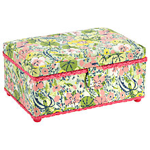 Buy John Lewis Nasturtium Rectangular Sewing Basket, Multi Online at johnlewis.com