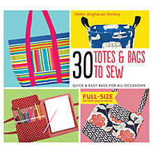 Buy 30 Totes & Bags To Sew Online at johnlewis.com