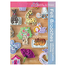 Buy Felt Brooches with Free Machine Stitching Online at johnlewis.com